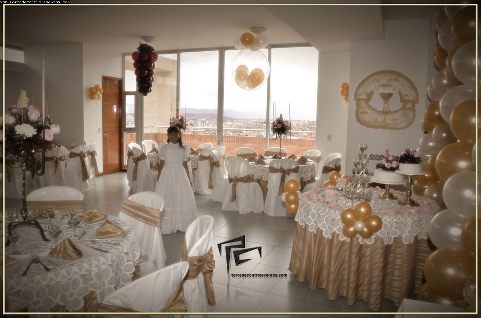 Decoraciones para celebraciones religiosas for Fiestas comunion decoracion